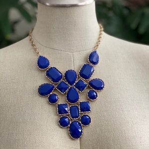 Cobalt Blue & Gold Statement Necklace